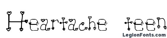 Heartache teen crush Font, Wedding Fonts