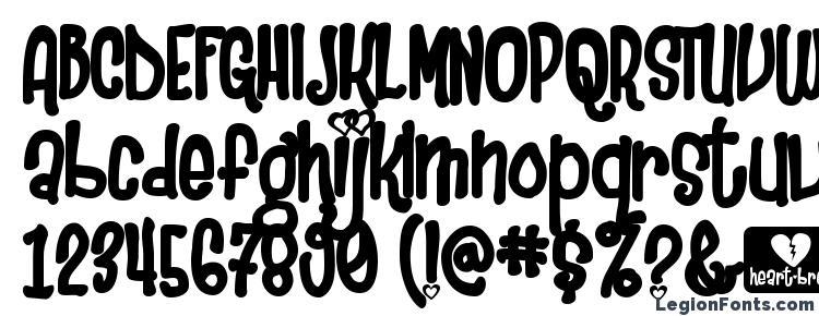 glyphs Heartbreaker font, сharacters Heartbreaker font, symbols Heartbreaker font, character map Heartbreaker font, preview Heartbreaker font, abc Heartbreaker font, Heartbreaker font