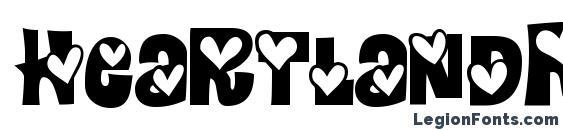 HeartlandRegular font, free HeartlandRegular font, preview HeartlandRegular font