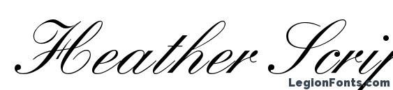 Heather Script One Font, Cursive Fonts