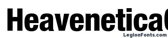 HeaveneticaCond8 HvySH Font