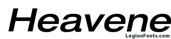 HeaveneticaExtd6 MedOblSH Font