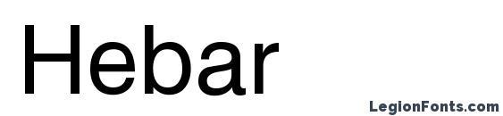 Шрифт Hebar