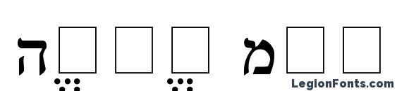 Hebrew Multimode Font