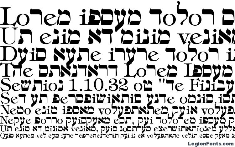 Hebrew Regular Font Download Free / LegionFonts
