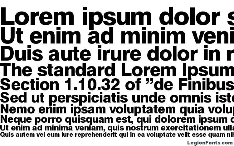 helbablackdb normal font