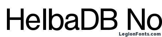 Шрифт HelbaDB Normal