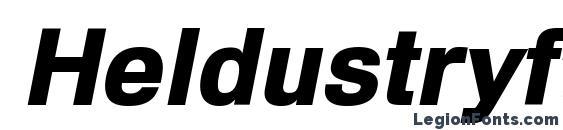 Heldustryft black italic font, free Heldustryft black italic font, preview Heldustryft black italic font