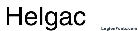 Шрифт Helgac