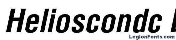 Helioscondc bolditalic Font