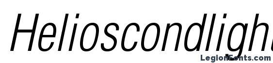 Шрифт Helioscondlightc italic