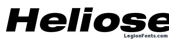 Heliosextblackc italic Font