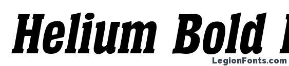 Helium Bold Italic Font