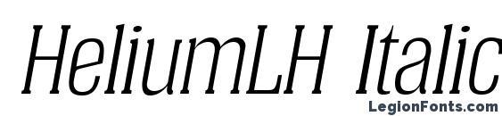 шрифт HeliumLH Italic, бесплатный шрифт HeliumLH Italic, предварительный просмотр шрифта HeliumLH Italic