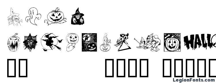 глифы шрифта Helloween 2, символы шрифта Helloween 2, символьная карта шрифта Helloween 2, предварительный просмотр шрифта Helloween 2, алфавит шрифта Helloween 2, шрифт Helloween 2