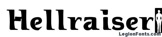Шрифт Hellraiser3