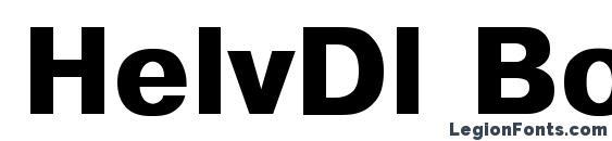 Шрифт HelvDl Bold
