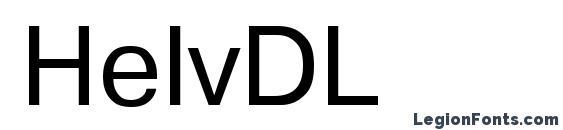 Шрифт HelvDL