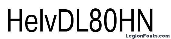Шрифт HelvDL80HN