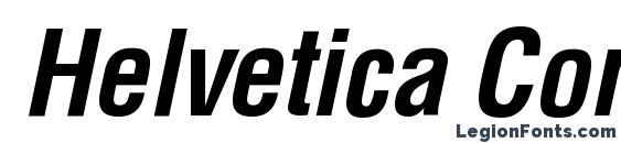 Шрифт Helvetica CondensedBoldItalic