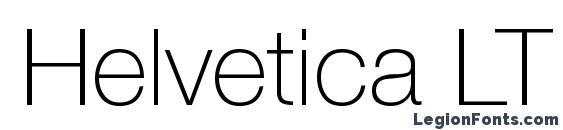 Helvetica LT 35 Thin Font