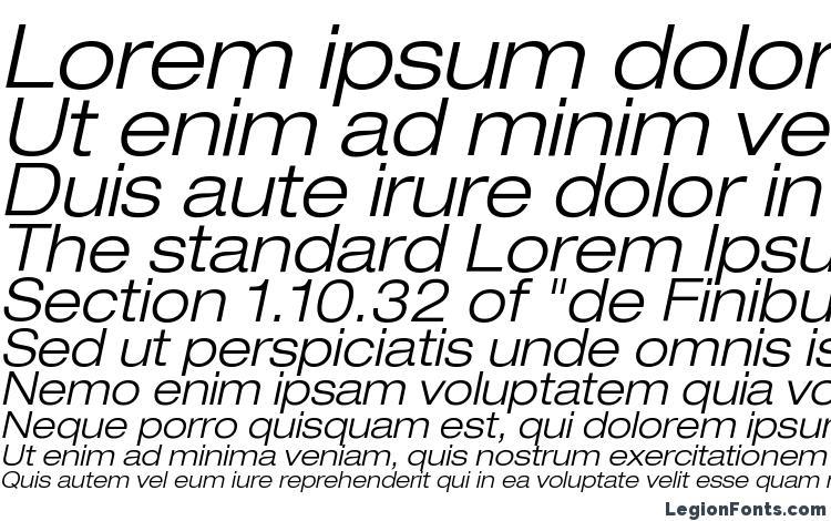 Helvetica LT 43 Light Extended Oblique Font Download Free