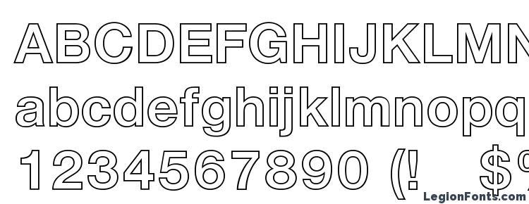 Helvetica LT 75 Bold Outline Font Download Free / LegionFonts