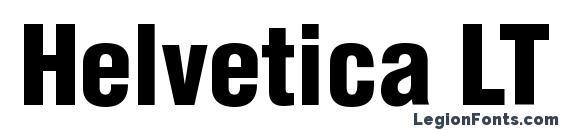 Helvetica LT Condensed Black Font