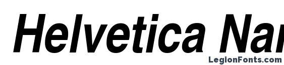 Helvetica Narrow Полужирный Oblique Font, Bold Fonts