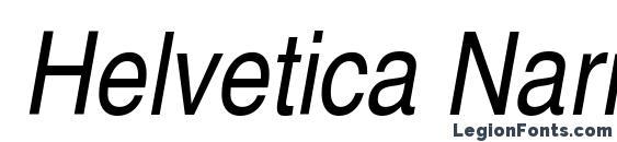 Helvetica Narrow Oblique Font