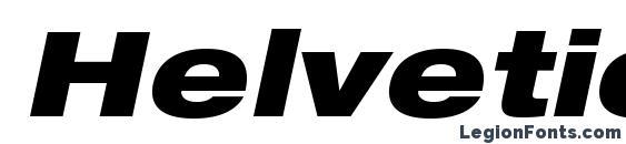 HelveticaNeueLTStd BlkExO Font