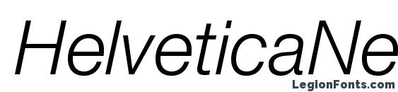 HelveticaNeueLTStd LtIt Font