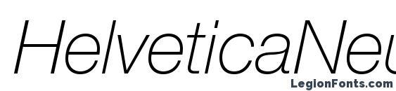 Шрифт HelveticaNeueLTStd ThIt