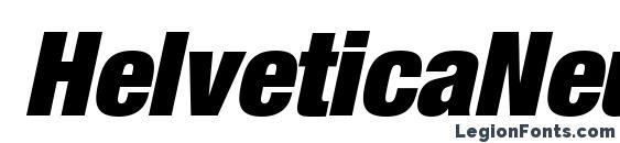 Шрифт HelveticaNeueLTStd XBlkCnO