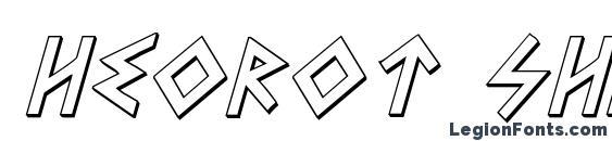 Heorot Shadow Italic Font, 3D Fonts