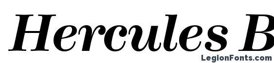 Шрифт Hercules BoldItalic