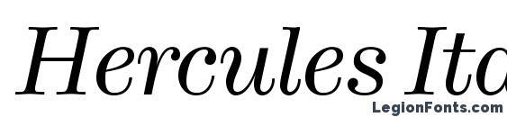 шрифт Hercules Italic, бесплатный шрифт Hercules Italic, предварительный просмотр шрифта Hercules Italic