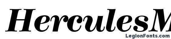Шрифт HerculesMedium BoldItalic