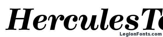 HerculesText BoldItalic Font