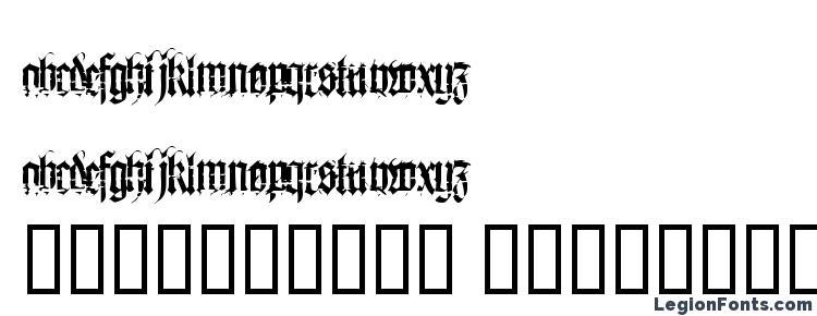 glyphs Heresy font, сharacters Heresy font, symbols Heresy font, character map Heresy font, preview Heresy font, abc Heresy font, Heresy font
