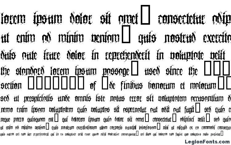 specimens Heresy font, sample Heresy font, an example of writing Heresy font, review Heresy font, preview Heresy font, Heresy font