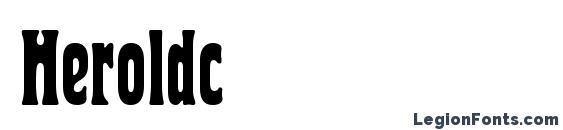 шрифт Heroldc, бесплатный шрифт Heroldc, предварительный просмотр шрифта Heroldc
