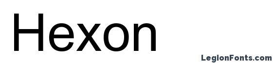 Hexon Font
