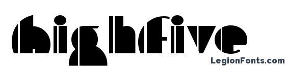 HighFive font, free HighFive font, preview HighFive font