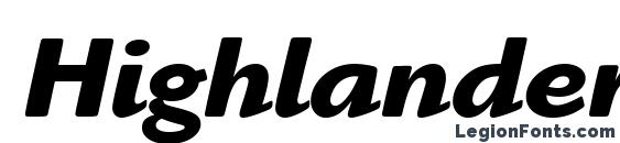 Highlander ITC Bold Italic font, free Highlander ITC Bold Italic font, preview Highlander ITC Bold Italic font