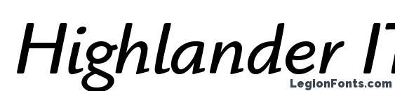 Highlander ITC Book Italic Font