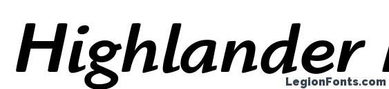 Highlander Md OS ITC TT MedIta Font, Bold Fonts
