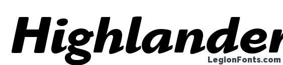 Шрифт HighlanderStd BoldItalic, OTF шрифты
