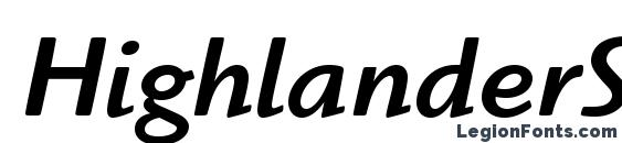 Шрифт HighlanderStd MediumItalic