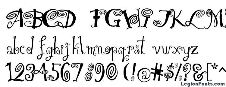 глифы шрифта HipnOtik, символы шрифта HipnOtik, символьная карта шрифта HipnOtik, предварительный просмотр шрифта HipnOtik, алфавит шрифта HipnOtik, шрифт HipnOtik